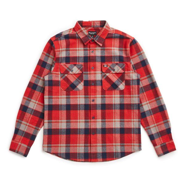 BOWERY CHEVY L/S FLANNEL - NOVA RED