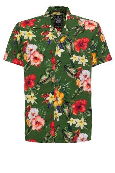 Herren Hawaii-Hemd Tropic green