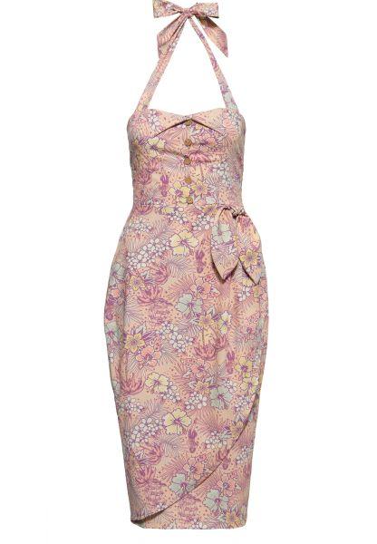 Damen Oldschool Kleid - tropical coral