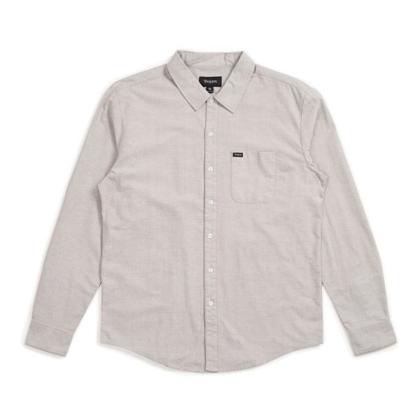 CHARTER OXFORD LANGARM HEMD GREY
