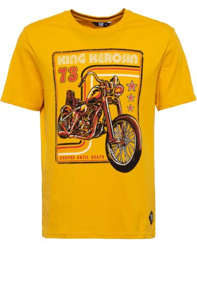 Herren T-Shirt Chopper until Death orange