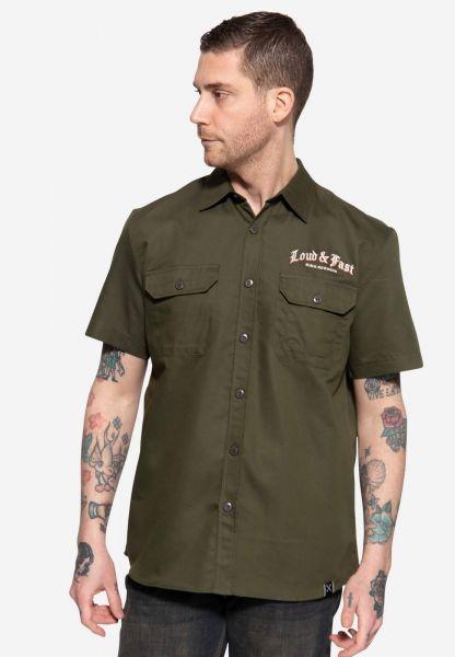 Herren Red Barons Hemd im Workwear Style olive