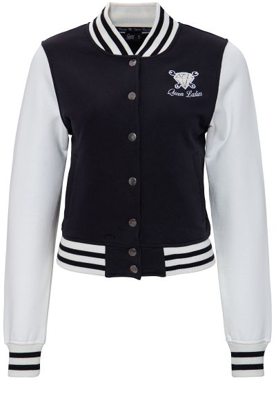 Damen College Jacke Queen Ladies black