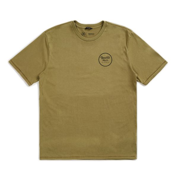 WHEELER II PREM TEE DUSTY OLIVE/BLACK