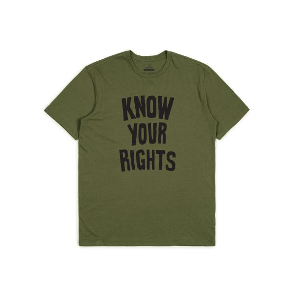 Strummer Know Your Rights T-Shirt olive