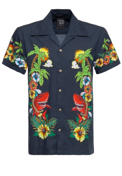 Herren Hawaii-Hemd Mermaid navy