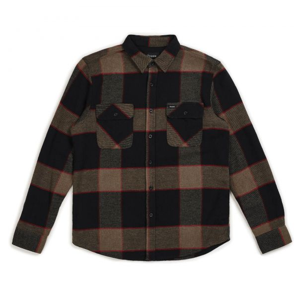 Bowery L/S Flannel Hemd heather grey/charcoal