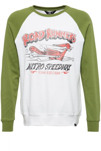 Herren LS Raglan-Shirt Roadrunners offwhite/cactus