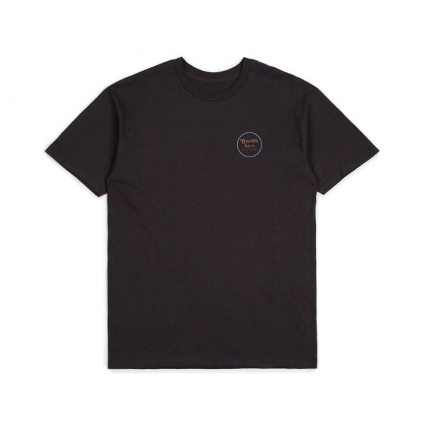 Wheeler II S/S STND Tee washed black/blue