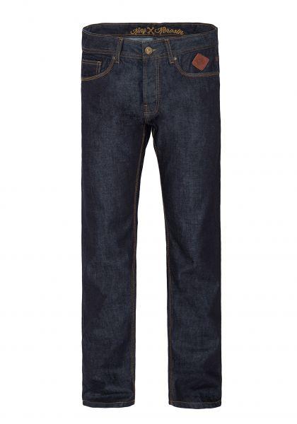 Regular Fit Jeans Dark Blue Mit Logo-Patch Robin
