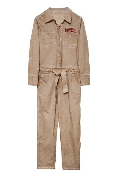 Damen Overall Oilwashed - sand/beige
