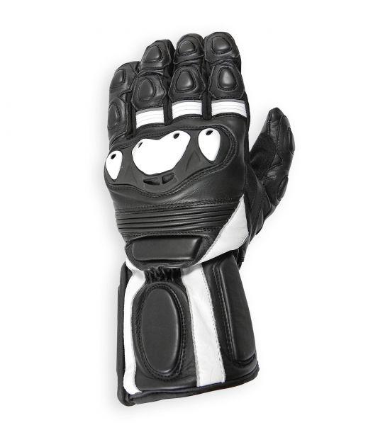 RIDER, wasserdichter Motorrad-Sommerhandschuhe schwarz-weiß