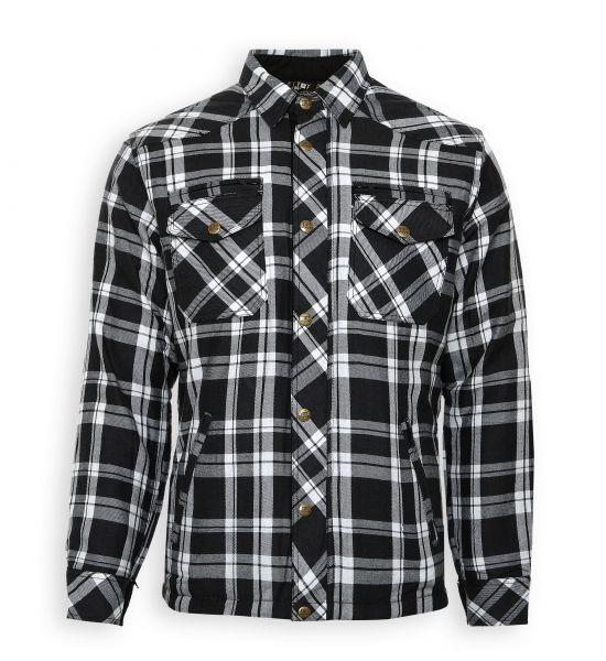 Lumberjack Jacken-Hemd schwarz/weiß