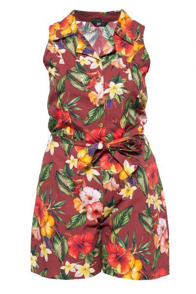 Damen Vintage Overall - Mambo bordeaux