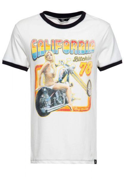 Herren T-Shirt California Bitchin weiß