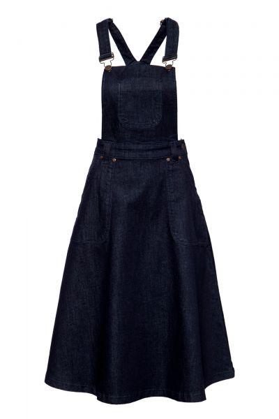 Damen Latzrock Workwear-Optik dark blue