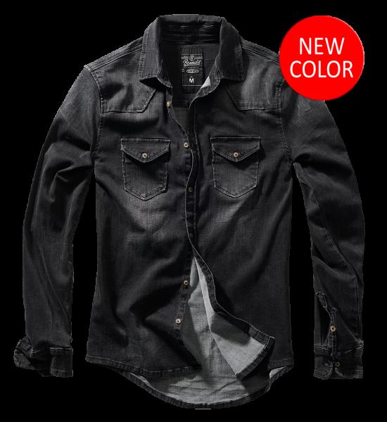 Riley Denim Shirt black