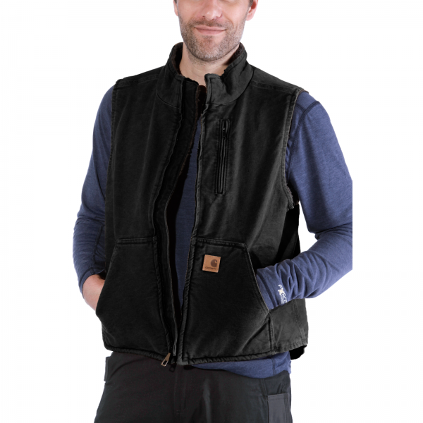 MOCK-NECK VEST BLACK
