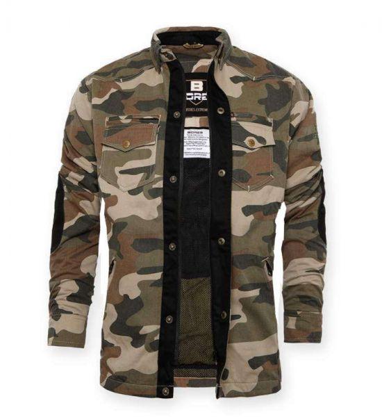 Damen Military-Jacke camouflage