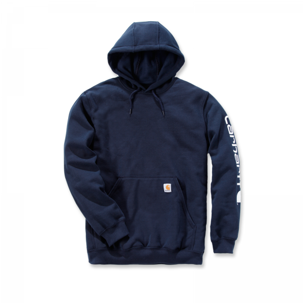 MIDWEIGHT SLEEVE LOGO HOODED SWEATSHIRT NEW NAVY