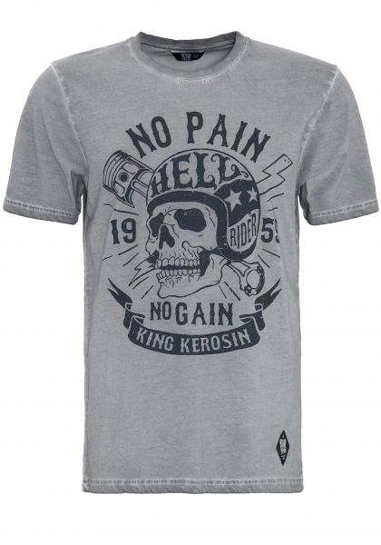 T-Shirt in Oil-Washed Optik No Pain
