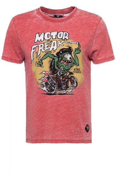 Herren T-Shirt Motor Freak red