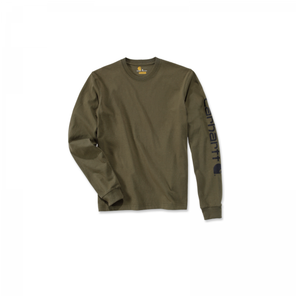 SIGNATURE SLEEVE LOGO LONG-SLEEVE ARMY GREEN