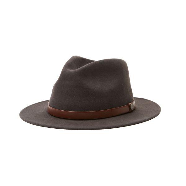 Messer Fedora Hut washedblack/brown