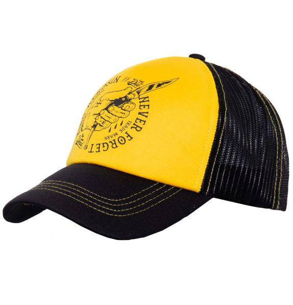 Herren Cap Never Forget black/yellow