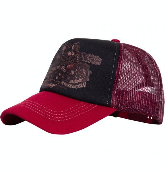 Herren Trucker Cap Moto Psycho black/red
