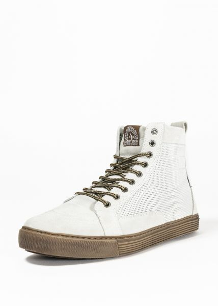 Neo Biker-Sneaker white/brown