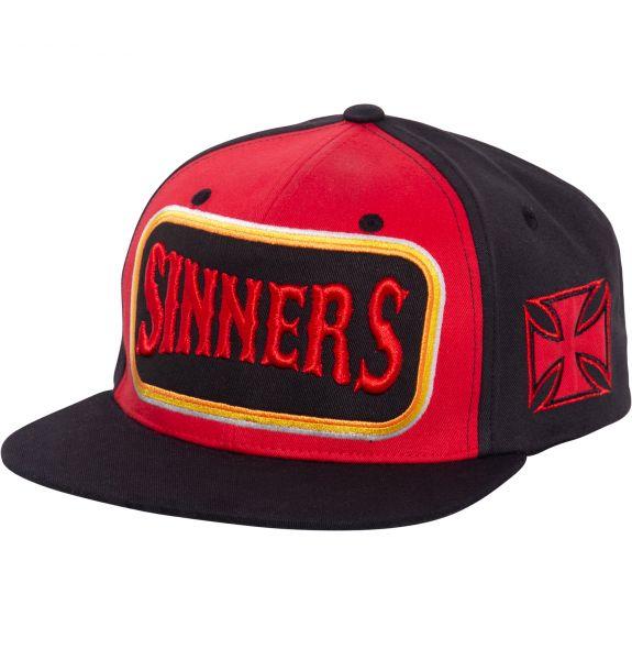 Cap Sinners 3D schwarz/rot