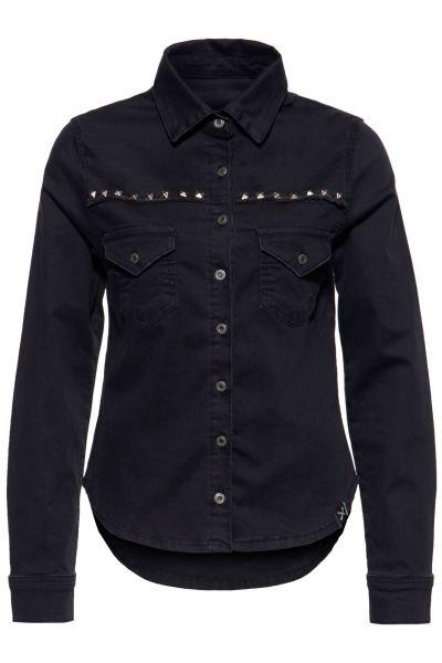 Damen Denim Bluse schwarz