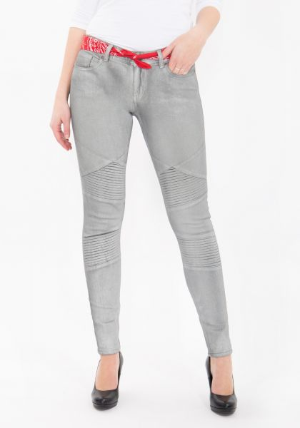 SKINNY JEANS MIT GLANZDRUCK HOLLY FIT