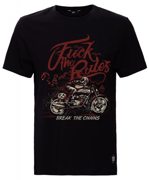 T-SHIRT MIT FRONTPRINT FUCK THE RULES