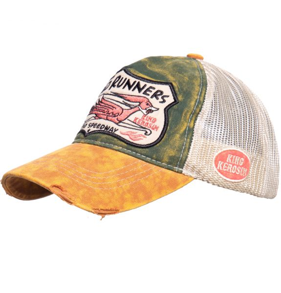 TRUCKER CAP IM USED-LOOK ROAD RUNNERS