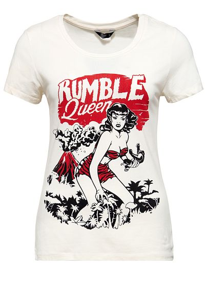Damen T-Shirt - Rumble in the jungle - Off White