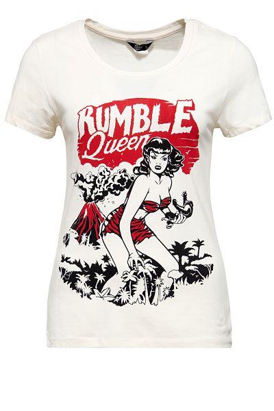 Damen T-Shirt - Rumble in the jungle - Off White