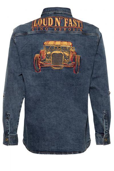 Herren Denim Jeans Loud n Fast Hemd
