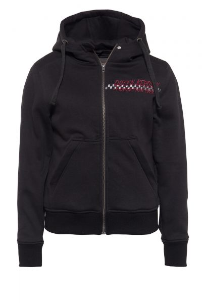 Damen Hoodiejacke Motorway black