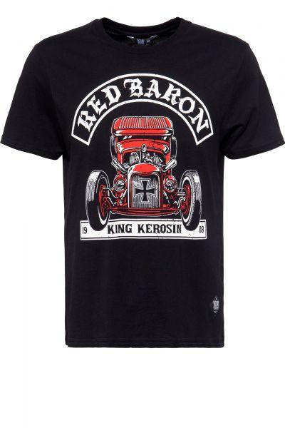 Herren T-Shirt Red Baron black