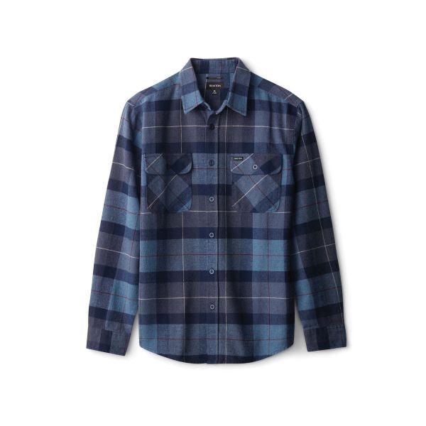 Bowery Herren Flannelhemd Navy/Carolina Blue