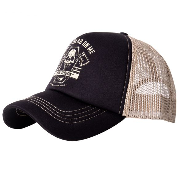 Truckercap - Don`t tread on me - black/grey