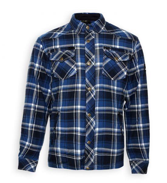 Lumberjack Jacken-Hemd blau/weiß