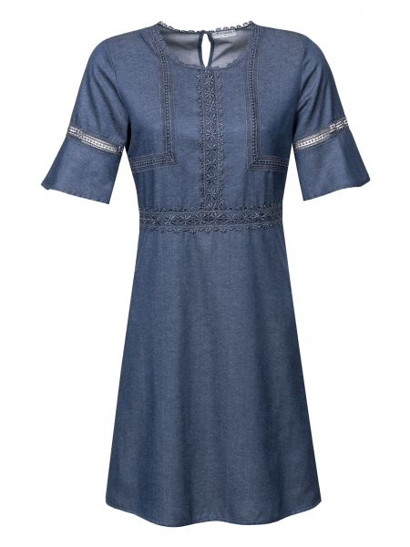 Victorian Denim Dress darkblue