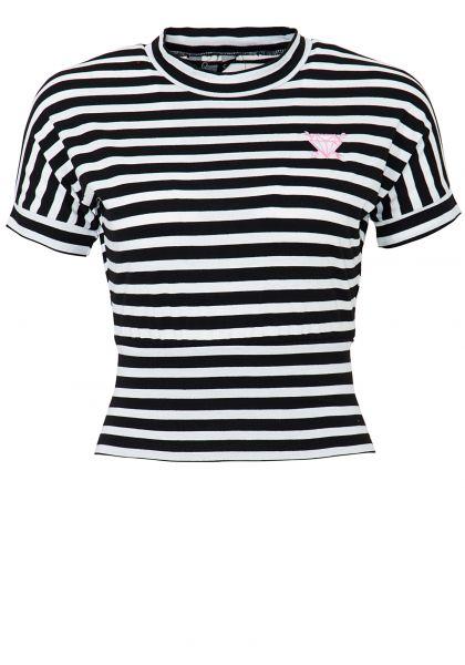Cropped Shirt mit Streifen
