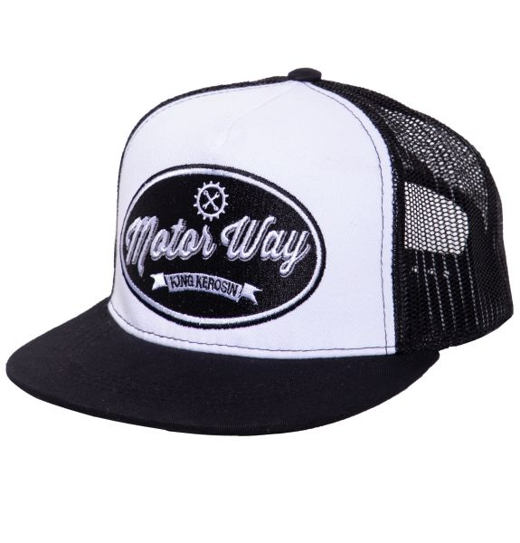 Herren Snapback Cap Motor Way black/white