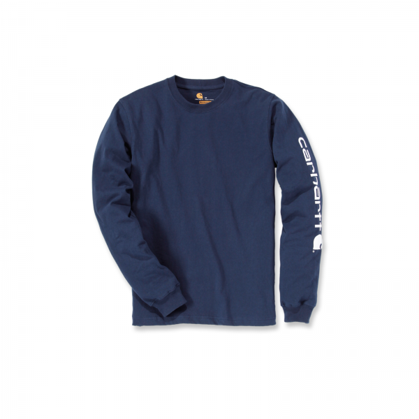 SIGNATURE SLEEVE LOGO LONG-SLEEVE NAVY
