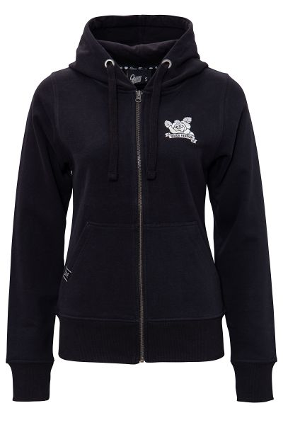 Damen Hoodie Jacke Hot Wheels - black