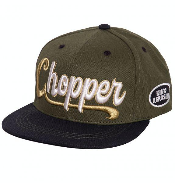 Herren Snapback Cap 3D Chopper green-black